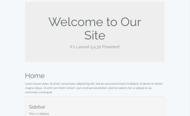 Basic Laravel Website