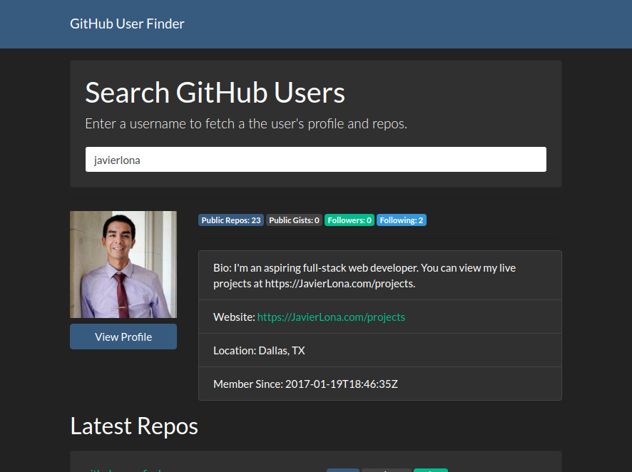 Github User Finder