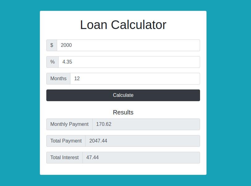 Loan Calculator Demo
