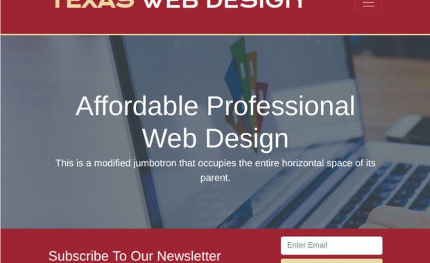 Bootstrap 4 Website
