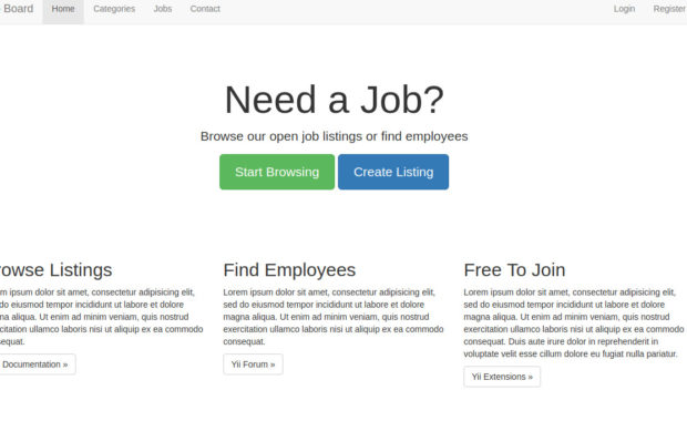 Job Board Homepage